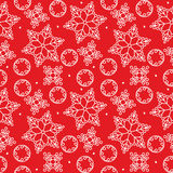 Seamless winter pattern with snowflakes Stock Photography