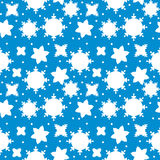 Seamless winter pattern with snowflakes Stock Photo