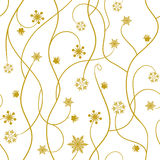 Seamless winter pattern, snowflakes - vector illustration Stock Photos