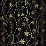 Seamless winter pattern, snowflakes - vector illustration Stock Photos
