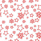 Seamless winter pattern Stock Photo