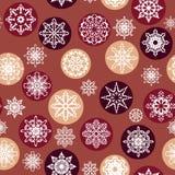 Seamless Winter Pattern Stock Photos