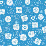 Seamless winter pattern2 Stock Photos