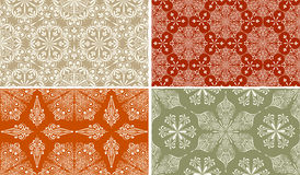 Seamless Winter Patterns. With Snowflakes Vector Illustration