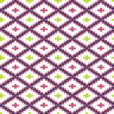 Seamless winter patterns with pixels. Vector Stock Photography