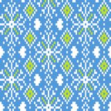 Seamless winter patterns with pixels. Vector Royalty Free Stock Images