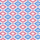 Seamless winter patterns with pixels. Vector Royalty Free Stock Photos