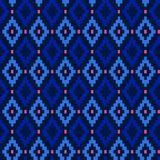 Seamless winter patterns with pixels. Vector Royalty Free Stock Image