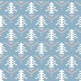 Seamless winter patterns with pixels. Vector Royalty Free Stock Photo