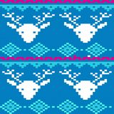 Seamless winter patterns with pixels. Vector Vector Illustration