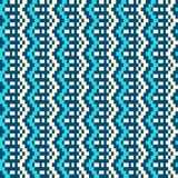 Seamless winter patterns with pixels. Vector Stock Photo