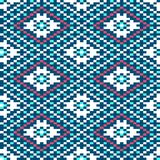 Seamless winter patterns with pixels. Vector Stock Photos