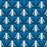 Seamless winter patterns with pixels. Vector Royalty Free Stock Photography