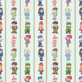 Seamless winter people pattern Stock Image