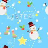 Seamless winter repeat pattern vector illustration