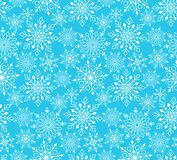 Seamless Winter Snow Flakes Background Pattern Stock Images