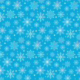 Seamless Winter Snow Flakes Background Pattern Stock Image