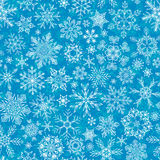 Seamless winter snowflakes pattern. Stock Photos