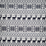 Seamless winter sweater  knitted pattern with. Knitted pattern with deer and snowflakes, seamless winter sweater pattern Stock Images
