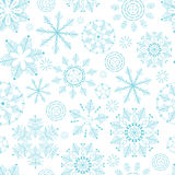 Seamless winter texture with snowflakes. New Year background. Christmas template. Royalty Free Stock Image