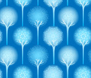 Seamless winter tree pattern Royalty Free Stock Image