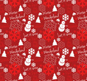 Seamless Winter Wonderland Pattern. Seamless winter theme pattern.  Can be used in Adobe Illustrator's swatch palette Royalty Free Stock Photography