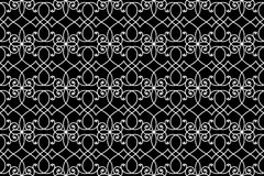 Seamless wire iron fence pattern. Elaborated wire iron fence for garden or protection. Seamless pattern background vector illustration