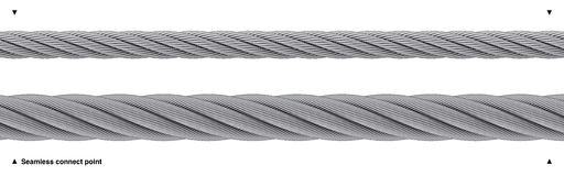 Seamless wire rope heavy duty isolated Royalty Free Stock Photo