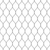 Seamless wired netting fence. Simple black vector illustration on white background Stock Photography