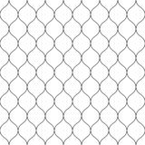 Seamless wired netting fence. Simple black vector illustration on white background Royalty Free Stock Image