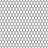 Seamless wired netting fence. Simple black vector illustration on white background Royalty Free Stock Photos