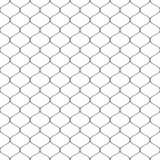 Seamless wired netting fence. Simple black vector illustration on white background Stock Photos