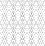 Seamless wireframe cubic abstract geometric isometric pattern background texture. Seamless wireframe cubic abstract geometric isometric line pattern background Royalty Free Stock Images