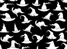 Seamless witch hats. With black in background Royalty Free Stock Photography