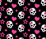 Free Seamless With Hearts And Skulls Stock Photography - 26944872