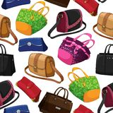 Seamless woman's fashion bags background Royalty Free Stock Photography