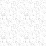 Seamless woman's stylish bags sketch. Pattern background vector illustration Stock Images