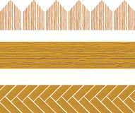 Seamless wood border Royalty Free Stock Photography