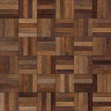 Seamless wood parquet texture chess brown. For render interior or your background Royalty Free Stock Photo
