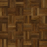 Seamless wood parquet texture chess brown. For render interior or your background Royalty Free Stock Images