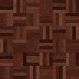 Seamless wood parquet texture chess dark brown. For render interior or your background Stock Images