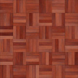 Seamless wood parquet texture chess red. For render interior or your background Royalty Free Stock Photo