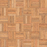 Seamless wood parquet texture chess sand color Stock Photos