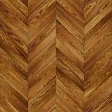 Seamless wood parquet texture chevron brown Stock Image