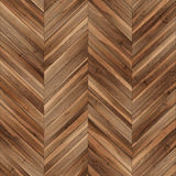 Seamless wood parquet texture chevron brown Royalty Free Stock Photography