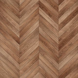 Seamless wood parquet texture chevron brown Royalty Free Stock Image