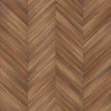 Seamless wood parquet texture chevron brown Stock Photography