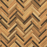 Seamless wood parquet texture herringbone clip-art Royalty Free Stock Photos