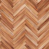 Seamless wood parquet texture herringbone light brown Stock Images