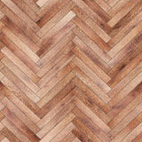 Seamless wood parquet texture herringbone light brown Royalty Free Stock Images